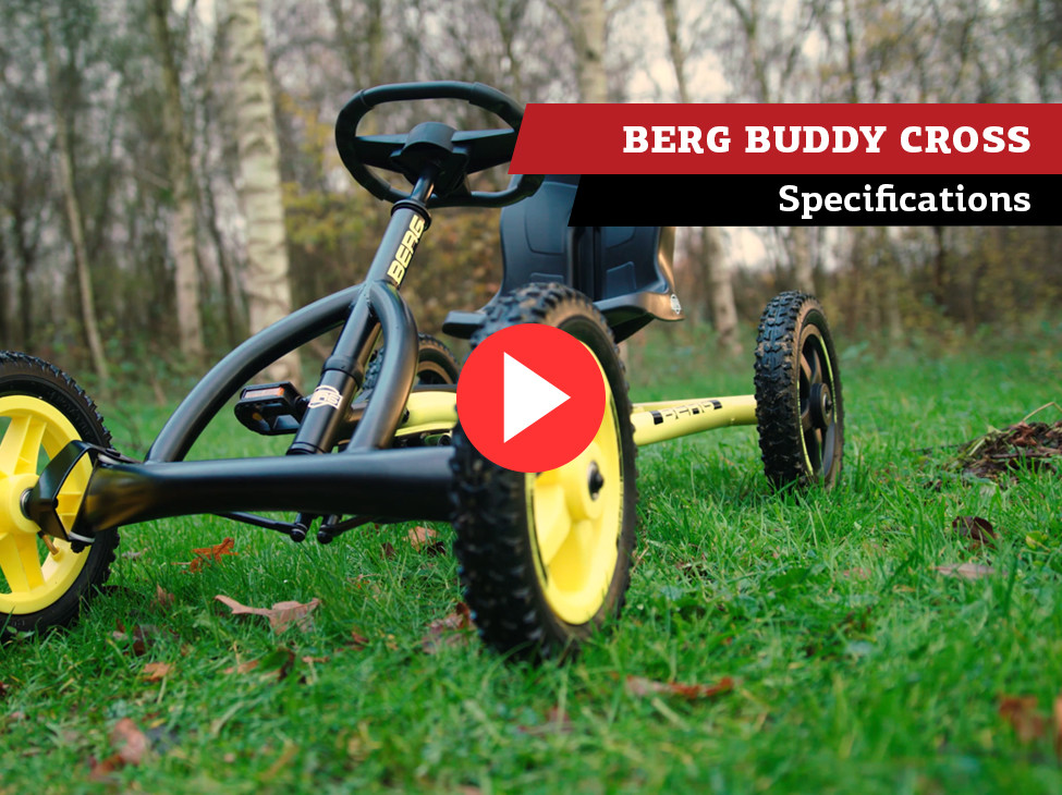BERG Buddy Cross kart à pédales | spécifications
