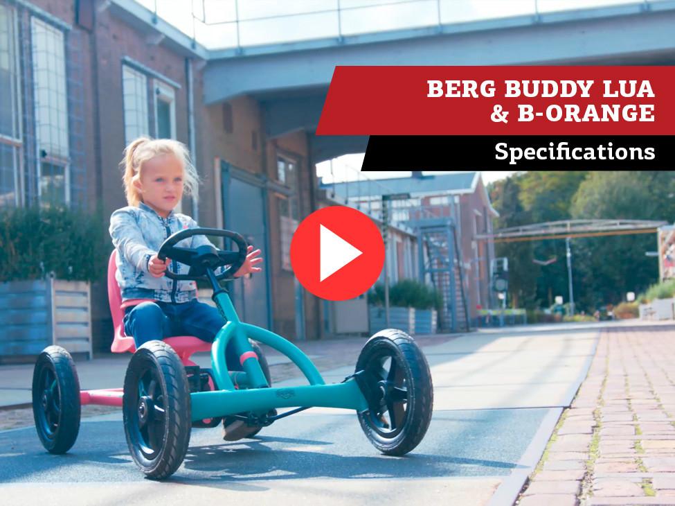 BERG Buddy B-Orange & Buddy Lua pedal-gokarts | specifications