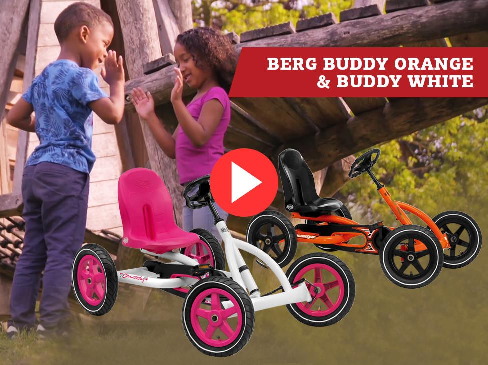 BERG Buddy Orange & BERG Buddy White Pedal-gokarts