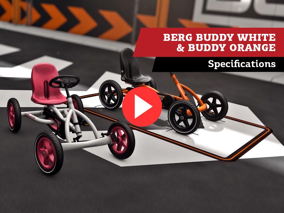 BERG Buddy Orange & BERG Buddy White Pedal-Gokarts   Spezifikationen