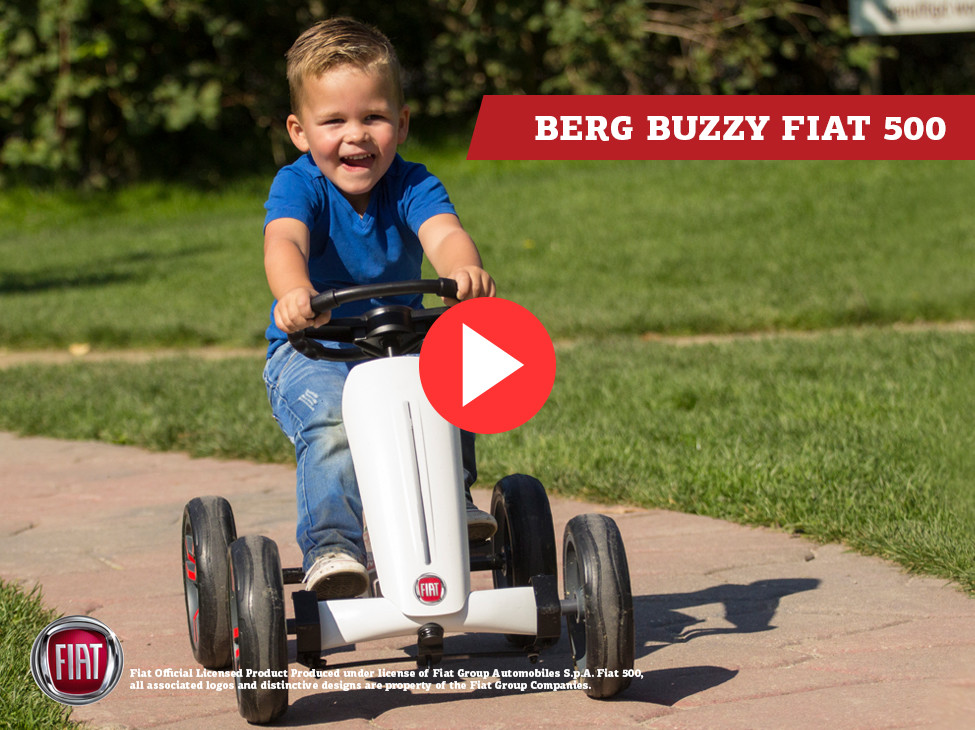 BERG Buzzy Fiat 500 pedal go-kart