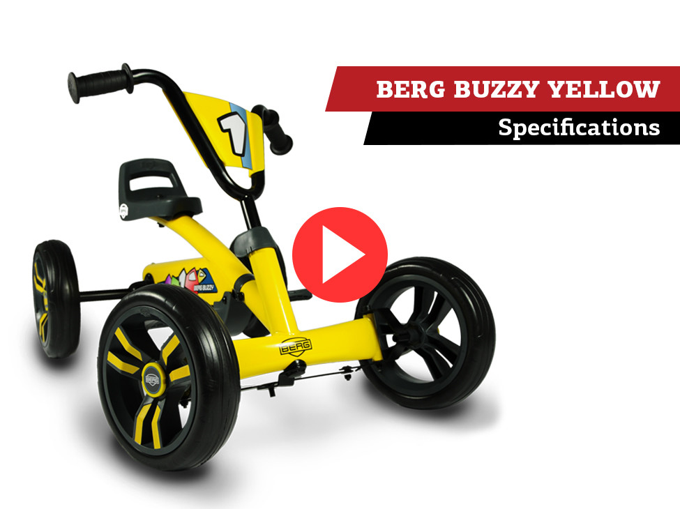 Specifications   BERG Buzzy Yellow pedal go-kart