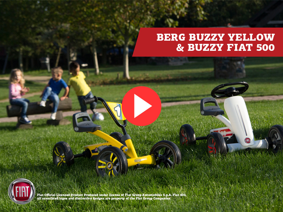 BERG Buzzy Yellow & BERG Buzzy Fiat 500 skelter