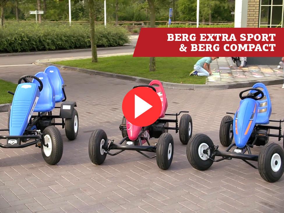 BERG Classic Extra Sport, BERG Compact Sport & BERG Compact Pink pedal go-karts