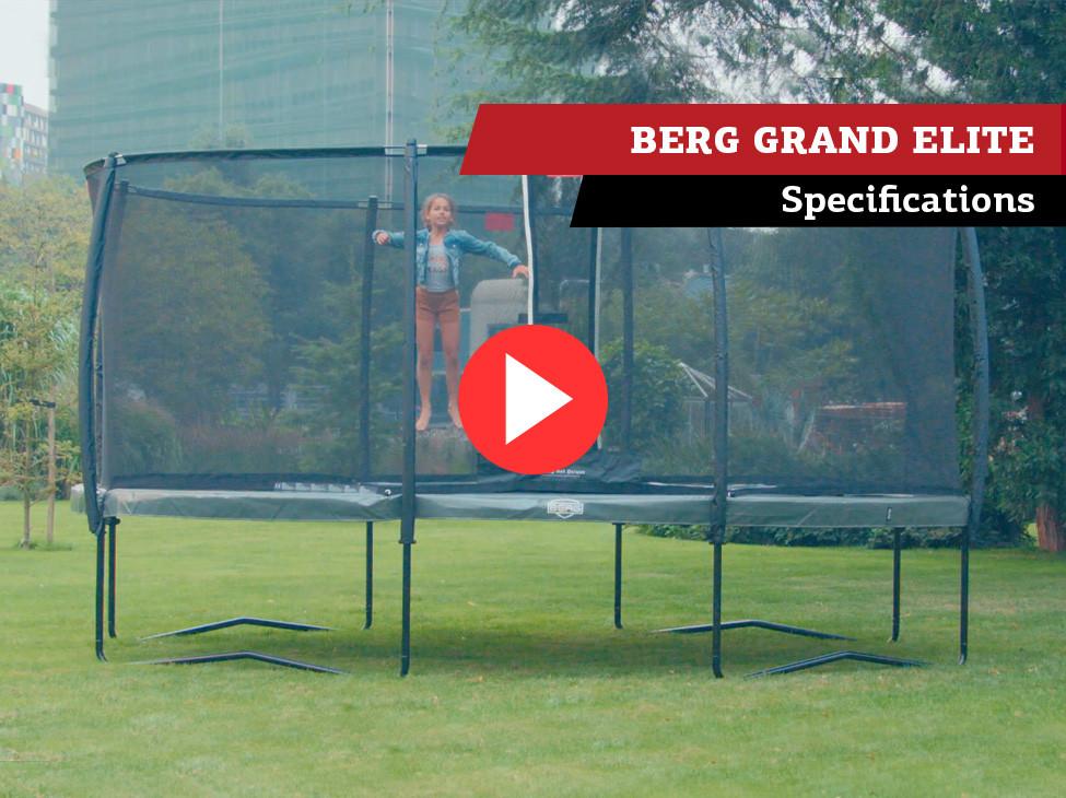 BERG Grand Elite trampoline | spécifications