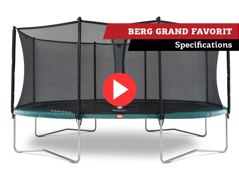 BERG Grand Favorit trampoline | specifications