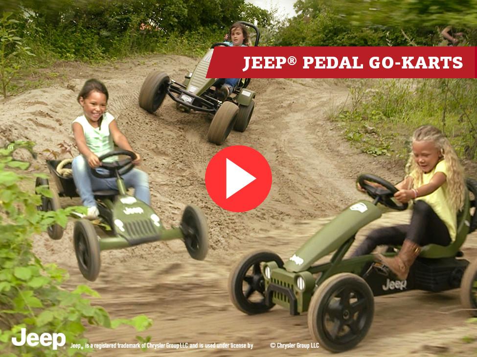 BERG Jeep® Junior Pedal go-kart, Adventure Pedal go-kart & Revolution Pedal go-karts