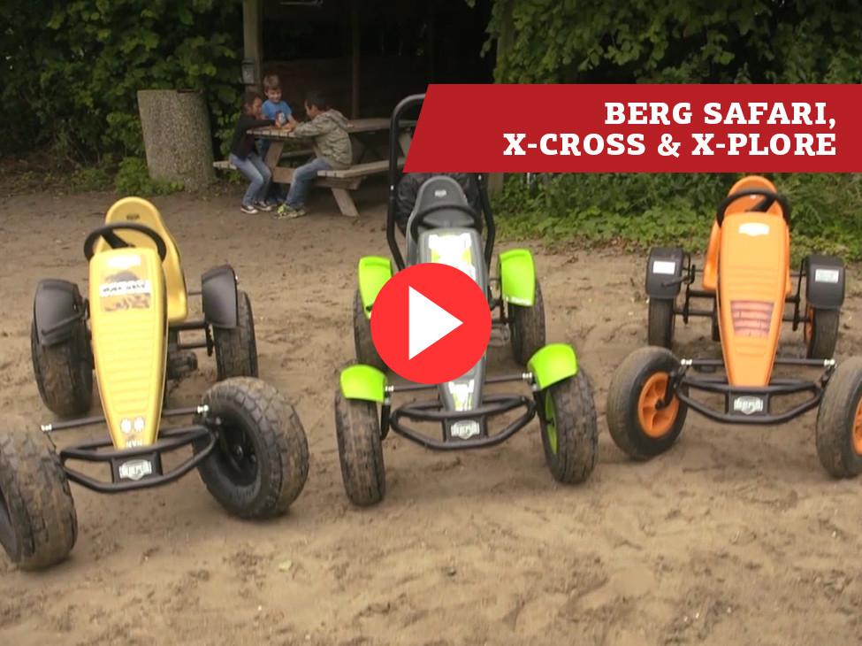 BERG Safari & BERG X-Plore & BERG X-Cross karts à pédales