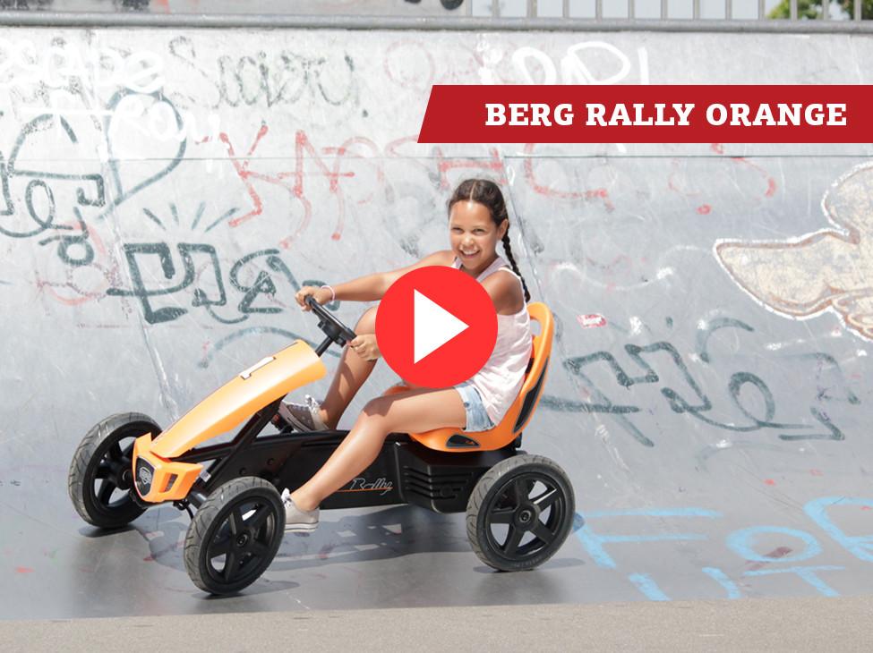 BERG Rally Orange kart à pédales