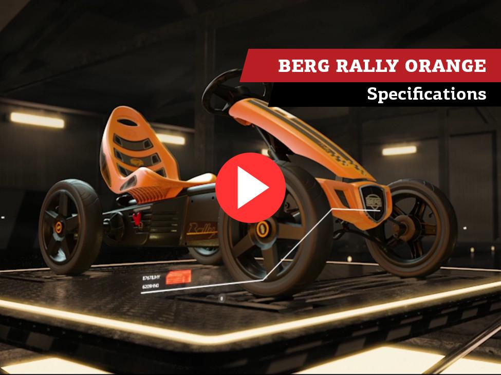 BERG Rally Orange pedal go-kart   specifications