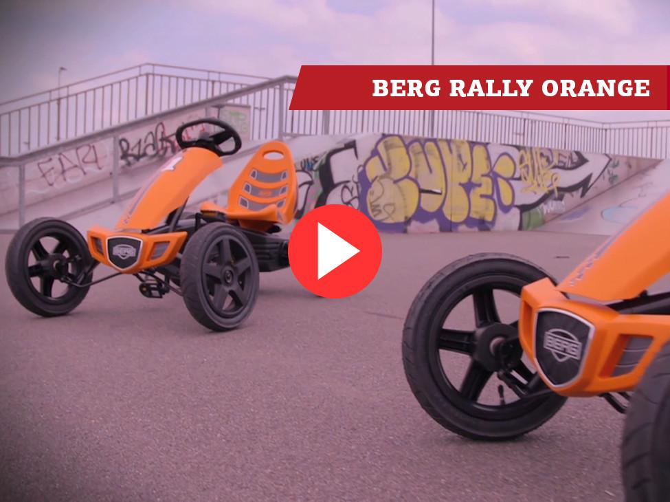 BERG Rally Orange pedal go-kart