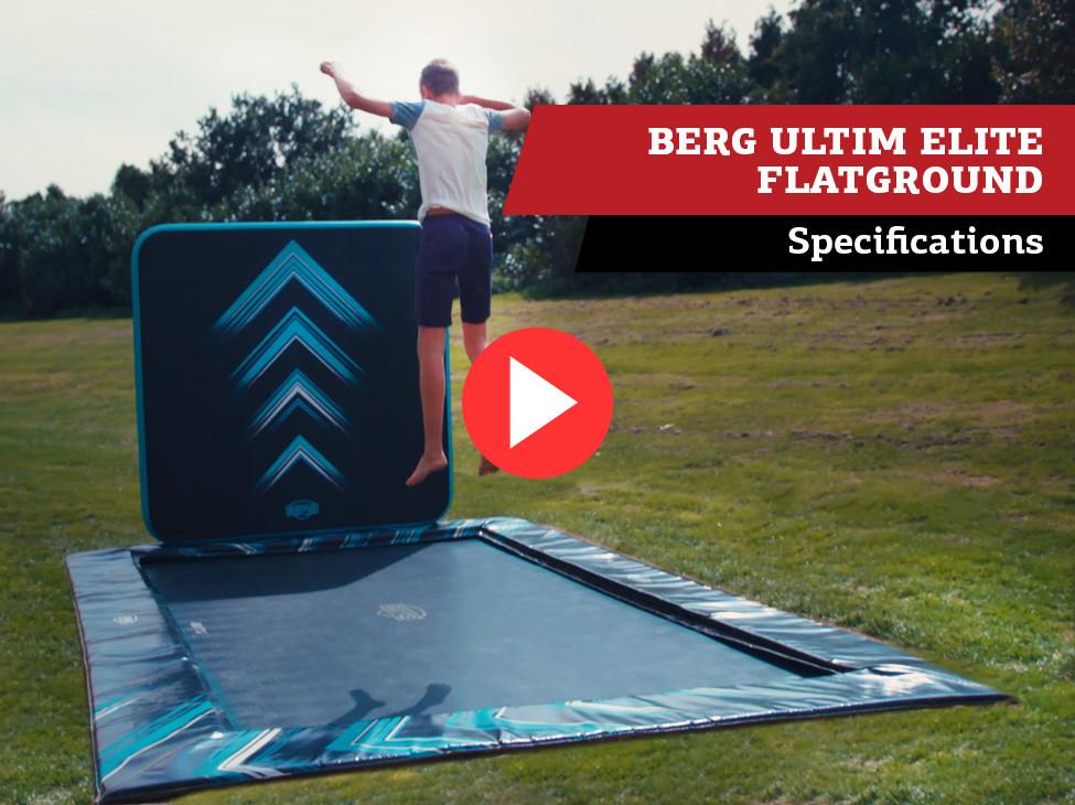 BERG Ultim Elite FlatGround trampoline   specifications