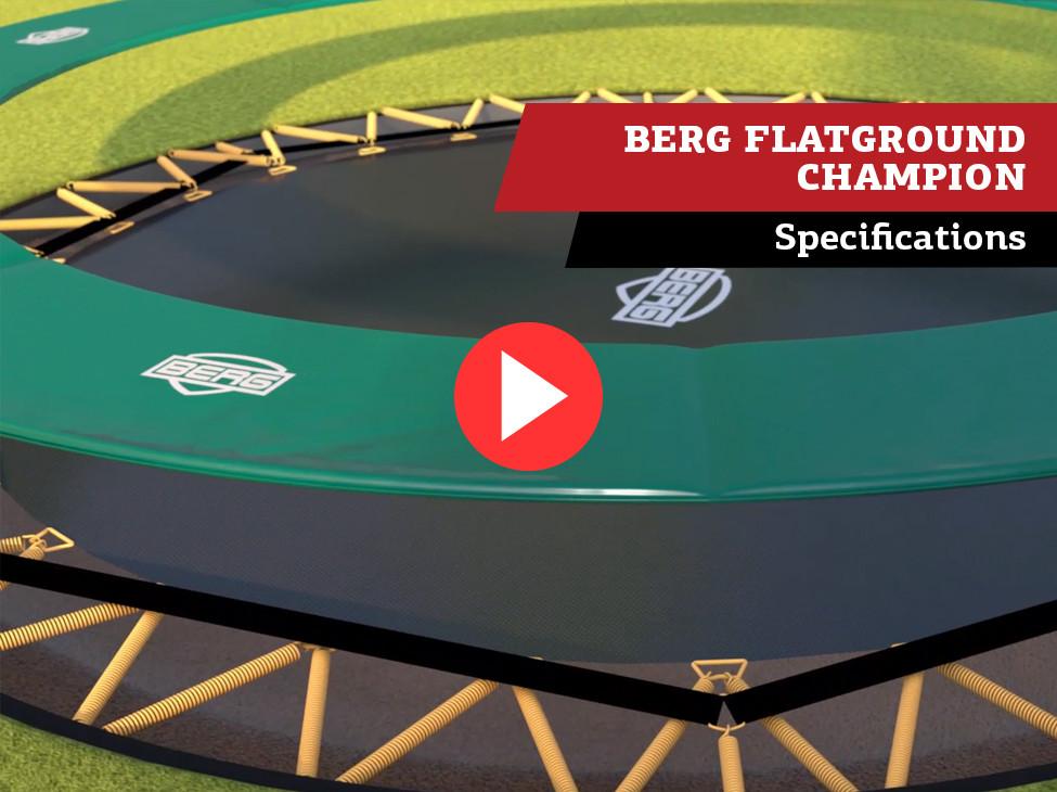 BERG FlatGround Champion trampoline | specifications