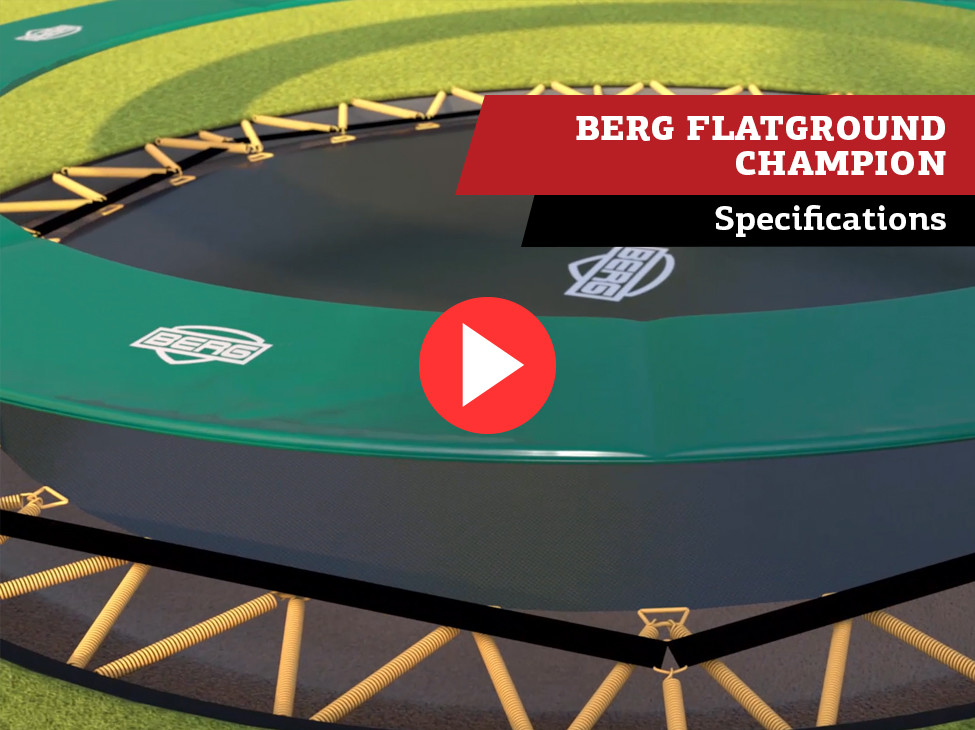 BERG FlatGround Champion trampoline | Specificaties
