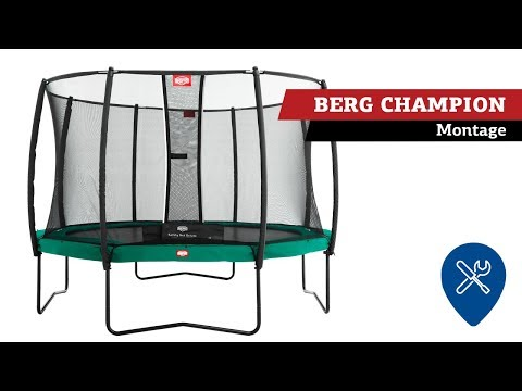 BERG Champion trampoline   montage