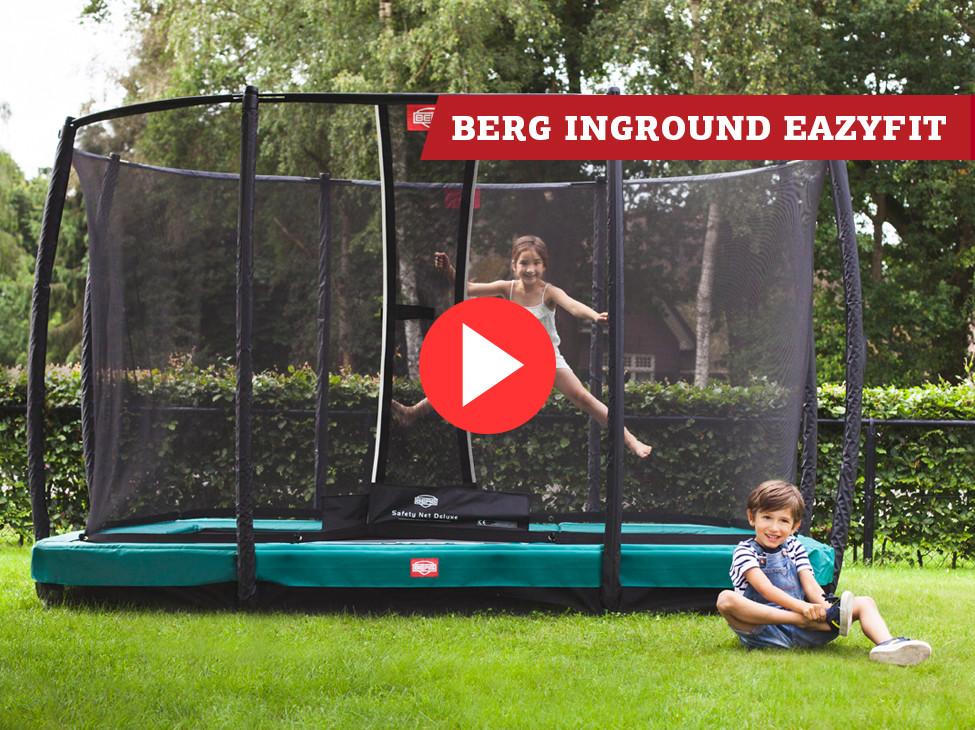 BERG InGround EazyFit trampoline + Safety Net Deluxe