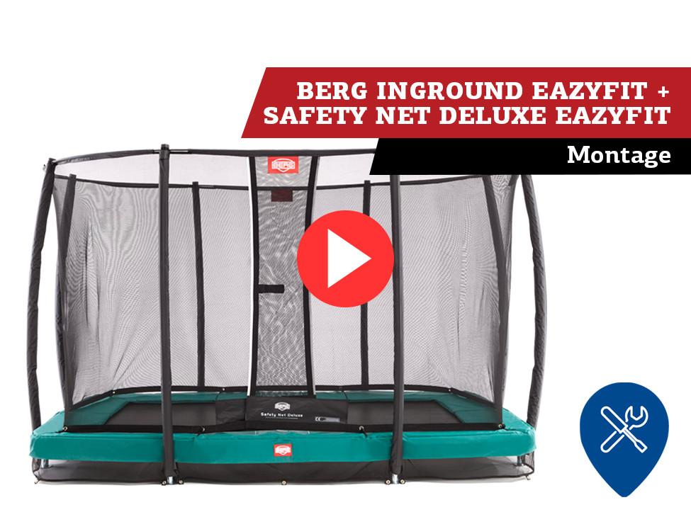 BERG InGround EazyFit + Safety Net trampoline   montage