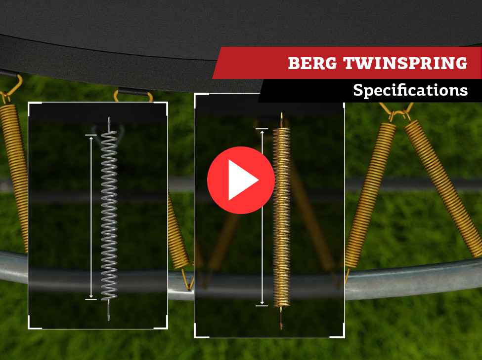 BERG TwinSpring trampoline veren | specificaties
