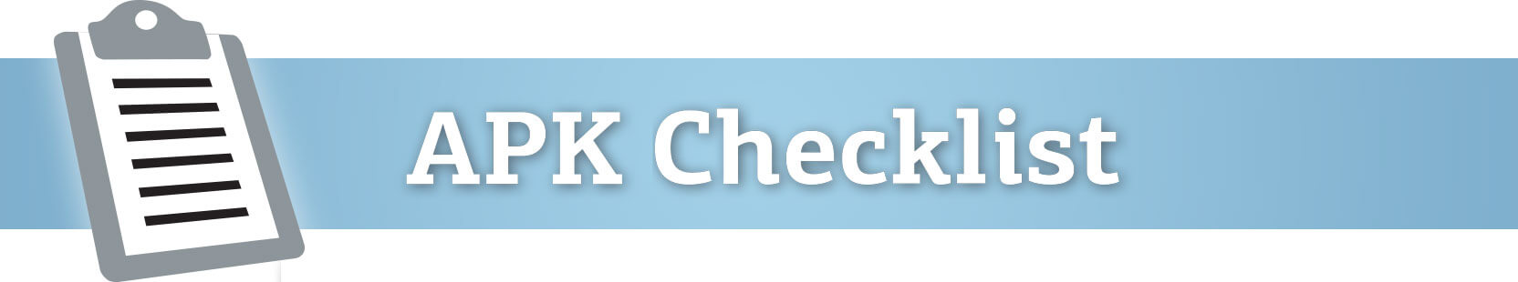 WEBSITE APK Checklist