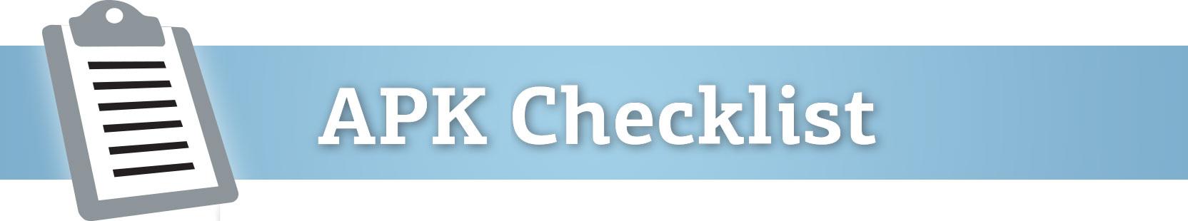 APK Checklist