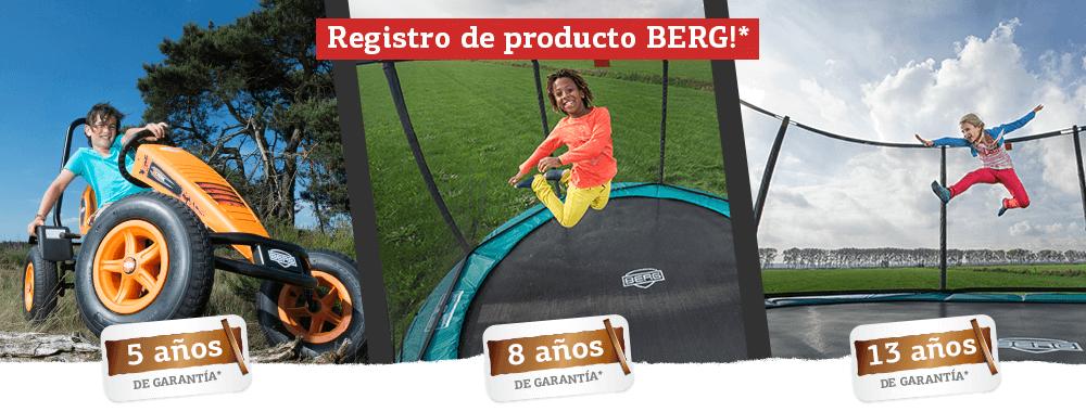 Registro de producto BERG