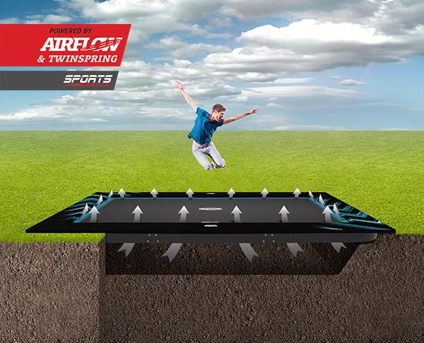 Ultim Elite trampoline met Airflow