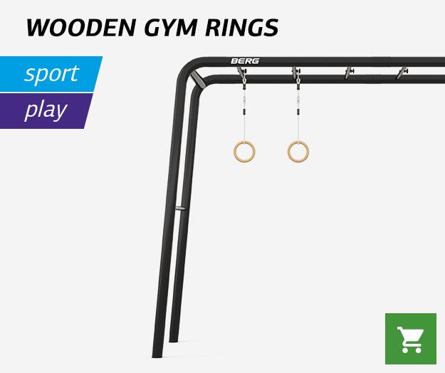 BERG Wooden gym rings
