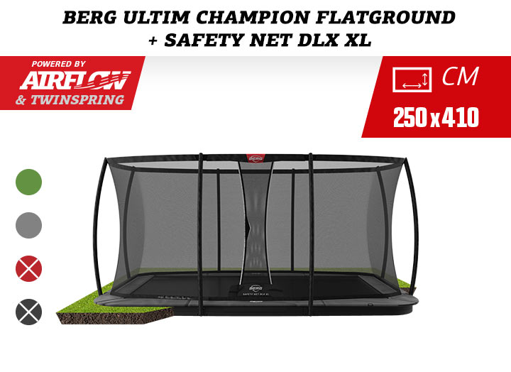 BERG Ultim Champion Flatground + Safety Net Deluxe XL