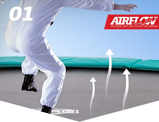 Less resistance with the BERG AirFlow jumping mat
