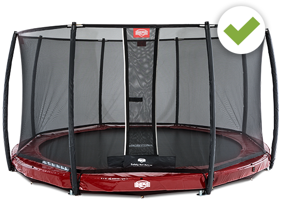 Elite trampolin with Safety Net Deluxe