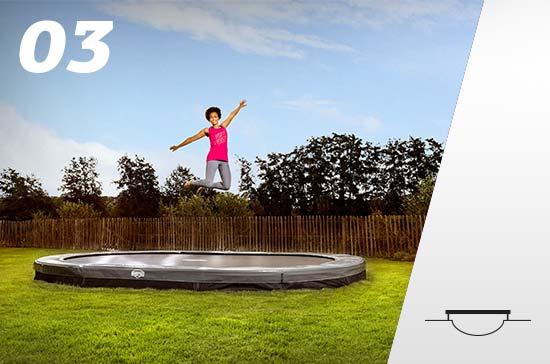 Le trampoline enterré sans filet