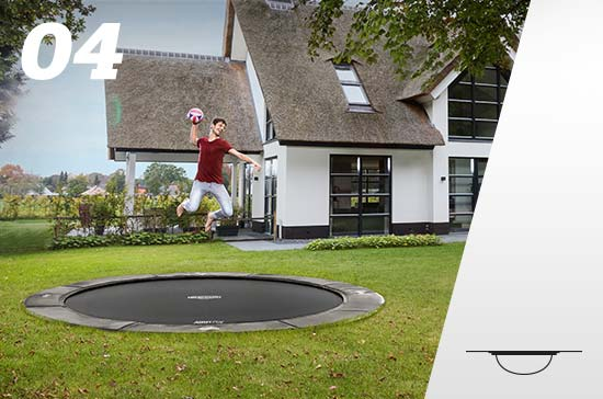 Flatground trampolin