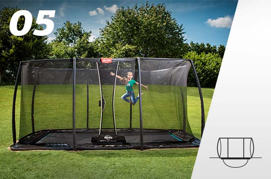 Flatground + Safety Net trampoline