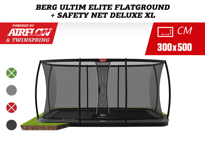 BERG Ultim Elite FlatGround 500 Black + Safety Net DLX XL