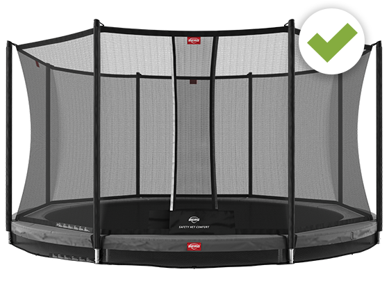Favorit trampoline with Safety Net comfort