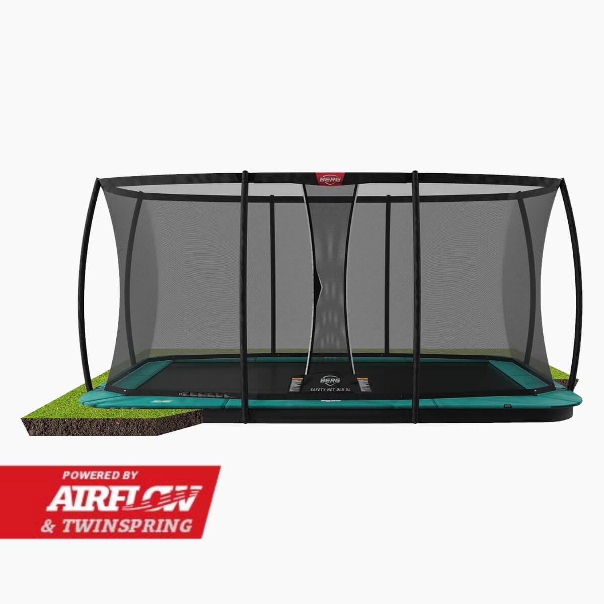BERG Champion FlatGround with safety net trampoline